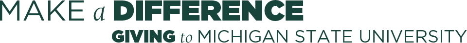 Make a Difference Giving to Michigan State University